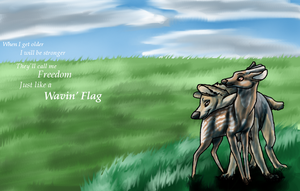 Wavin' Flag by SanjanaStone