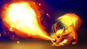 Flareon used Flamethrower :Fire Practice: by moxie2D