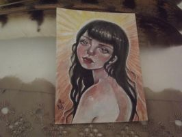 ACEO Bright girl by CellyMonteiro