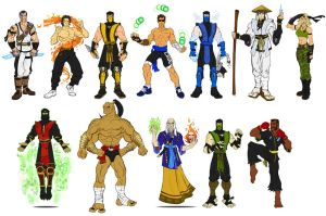Mortal Kombat 1 - Primary Costumes by RazorsEdge701