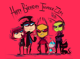happy zim day by panicatomizer