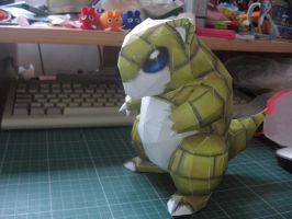 Sandshrew papercraft- side by sazmullium