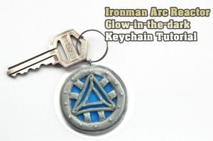 Iron Man Arc Reactor Keychain Tutorial by NerdEcrafter
