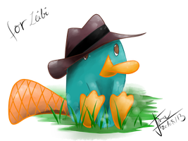 Perry the Platpus from Phineas and Ferb by ChocolateCookieX3