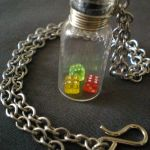 Citrus Dice in a Vial Necklace by SilverNebelJewelry