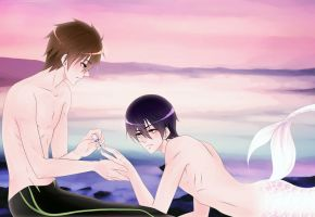 Free! Mermaid boyfriend getting the nails did by SinfulHime