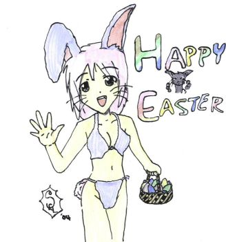 Happy Easter Bunny Girl by AkaneGirl89