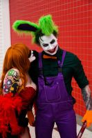 London Super Comicon 2015 86 - Harley and Joker by cosmicnut