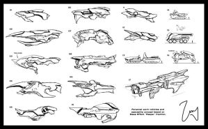 Vehicle concept shape sketches by Tekuuei