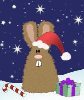 Christmas bunny gif by Inilein