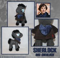 Sherlock Pony Plush by s-k-roberts