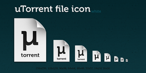 uTorrent white file icon by dmpr0