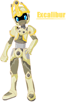 Excalibur full body by BlueMetabee