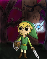 Link in the Forest digicolored by xBooxBooxBear