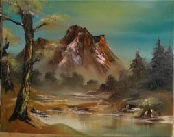 Bob Ross style Oil painting by Miko-the-moogle