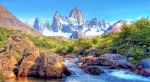 Snow-mountain-river-wallpaper (sketch) by T-Douglas-Painting