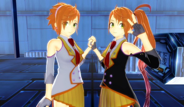 .:MMD:. Anon and Kanon (VOCALOID03) by Miku-Nyan02