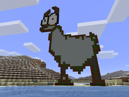 llama in minecraft by chickenmobile