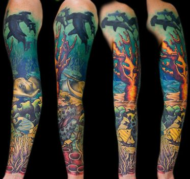 Shark Sleeve by franknardi2
