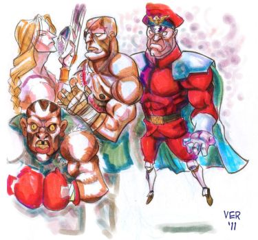 Street fighter 2 bosses by victorroa