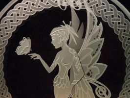 Butterfly Fairy closeup etch by ImaginedGlass
