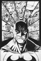 The Bat-Man inks by c-crain