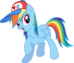Rainbow Dash and Her Hat by The-Queen-Of-Cookies