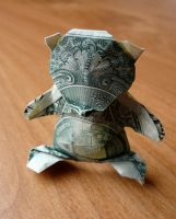 Dollar Origami Teddybear by craigfoldsfives