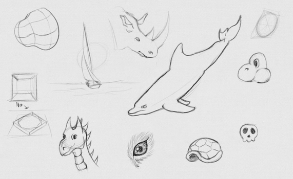 Daily Sketches - 19 April 2016 by RhynnCollins