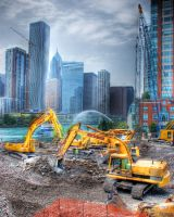 Chicago Spire the beginning: 2 by spudart