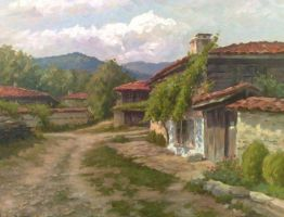 Bulgarian village by AnatolyPanagonovART