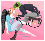 The Devil and the Fallen Angel :Collab: by kakasasusaku