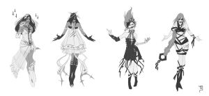 ghost ladies by schuhoku