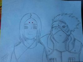 Young Kimimaro and Kakashi by Tonnie95