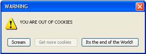 You are out of cookies by taylorswift135