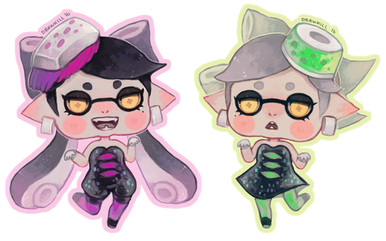 Squid Sisters by DrawKill