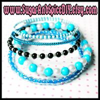Cookie Monster Colors Bangles by SugarAndSpiceDIY