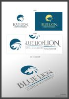 Blue Lion logotype by pixelosion