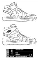 Air Jordan 1 Retro Template by BBoyKai91
