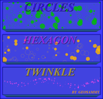 Circle, Hex and Twinkle Brushes by Geosammy