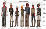 Character lineup: Guild and related by ElithianFox