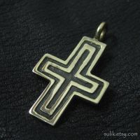 Bronze medieval cross by Sulislaw