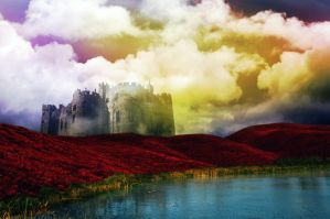 Castle in the Clouds by cazcastalla