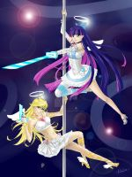 Panty and Stocking - WIP color by TerraForever
