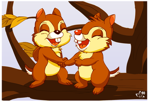 Chip and Dale by pichu90