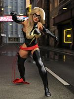 Ms Marvel pose 09 by DahriAlGhul
