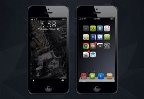 Iphone 5 - The City lockscreen by drpoup