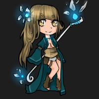 Blue magician adoptable - CLOSED by Nelliette