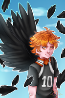 Hinata's Wings + Speedpaint by MikomiKisomi