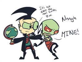 Tumblr pallet meme: Dib and Zim by Jayfeather-wings